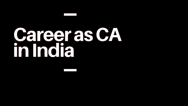 career as a ca in india